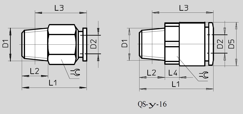Dimensões Conexão Pneumática QS FESTO Pahc Automação