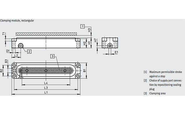 Dimensões Módulo de Fixação EV-15/63-4 FESTO PAHC Automação
