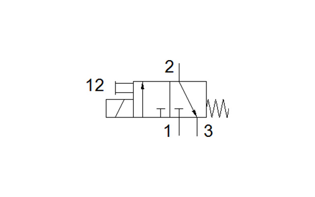 Dimensões Válvula Solenoide MFH-3-M5 FESTO PAHC Automação